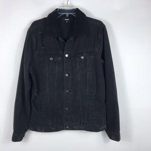 Jackson distressed Black Denim Jacket - Sz M